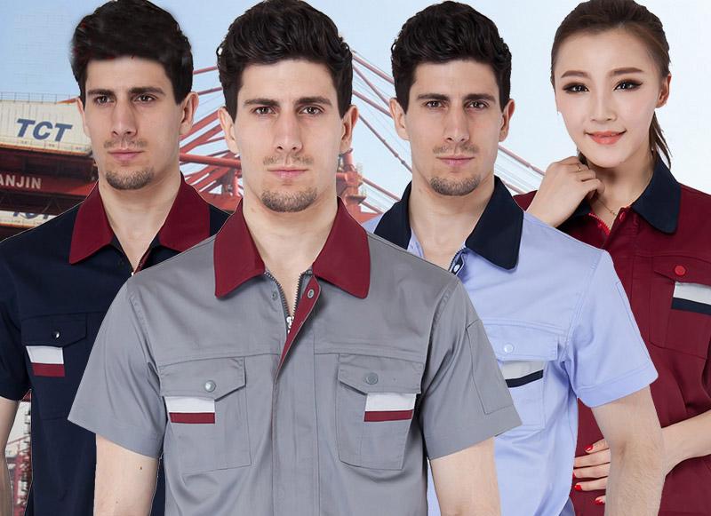 工作服短袖工作服套装 男汽修工服套装劳保服工装制服